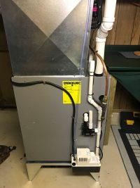 Furnace Installation with Furnace Condensate Pump