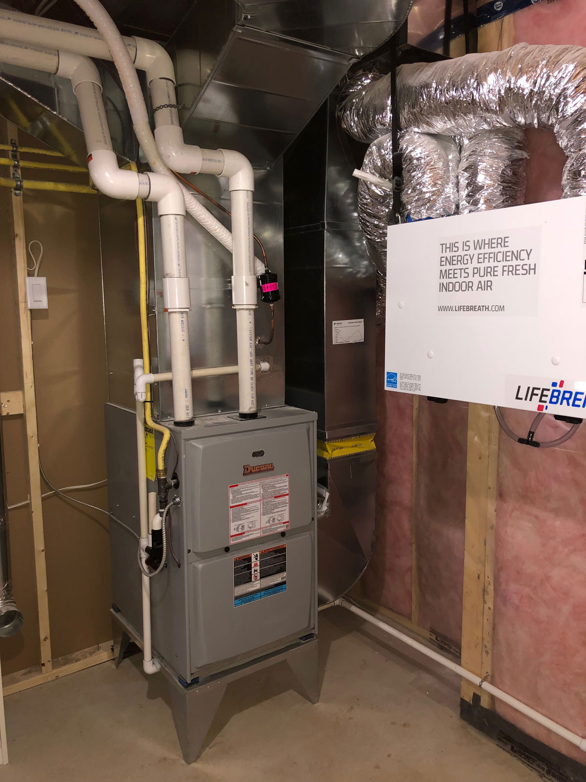 Furnace Installation with HRV